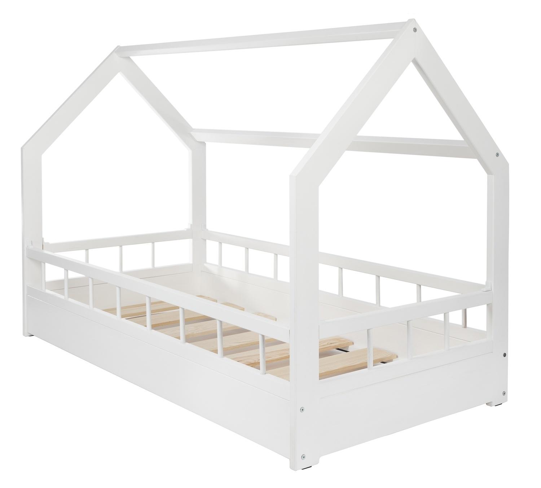 lit maison cabane 2 en 1 avec barreaux chambre d enfant. Black Bedroom Furniture Sets. Home Design Ideas